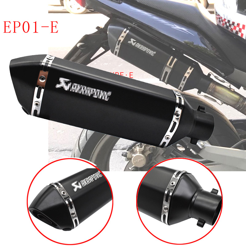 Universal akrapovic exhaust motorcycle muffler escape moto with db killer Exhaust Systems for honda benelli msx125 nmax EP01-in Exhaust & Exhaust Systems from Automobiles & Motorcycles