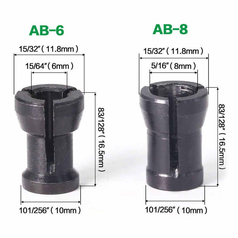 1 sztuk 6mm i 6.35mm i 8mm router do obróbki drewna Bit grawerka do drewna frez do drewna frez Chuck Convert Set