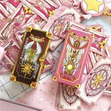 1 комплект, аниме Cardcaptor Sakura Clow Card, косплей реквизит, Аниме Реквизит, подарок на Хэллоуин, карты с Сакурой, таро, Детский костюм для взрослых