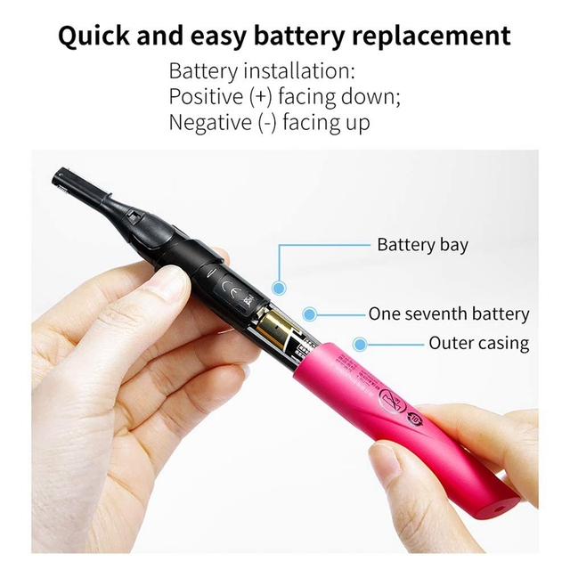 Electric Eyebrow Trimmer, Portable Mini Painless Epilator, Automatic Baby Shaving Hair Removal Instrument 3