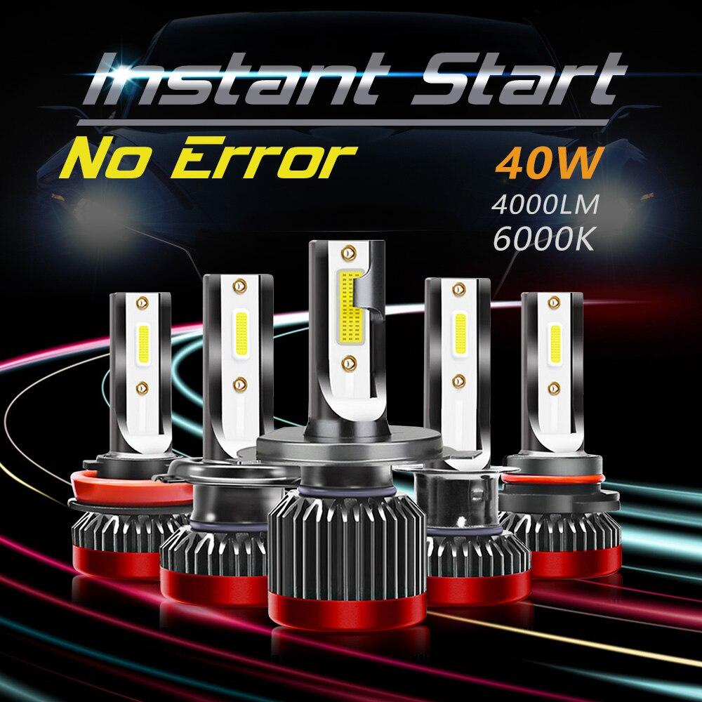 2PCS Car Light H7 Led Bulbs H4 H11 Led Lamp For Cars H8 H1 Headlamps Kit 9005 HB3 9006 HB4 Auto 40W 6000K 9-32V Led Headlight
