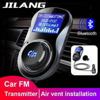 Jilang Bluetooth Hands-free FM Modulator Stereo Car MP3 Player Audio Adaptor FM Transmitter Support TF for iPhone XS 8 7&Android