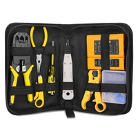 Network Repair Plier Tool Kit with Utp Cable Tester Spring Clamp Crimping Tool Crimping Pliers for Rj45 Rj11 Rj12|Pliers|   -