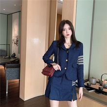 2019 Winter Wool tweed Women's Blazers Notched Collar Slim Women blazers Female 2019 Coat Sashes Jackets England Outerwear S0198(China)