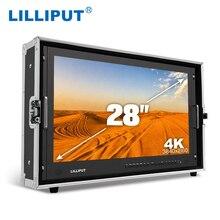 Lilliput BM280 4K 28 Polegada 3840*2160 monitor de transmissão 3g sdi 4 k ultra hd monitor sdi hdmi tally director monitor