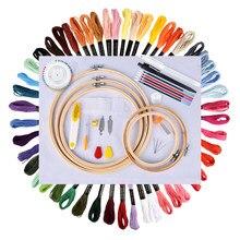Kit de bordado de madejas de punto de cruz, Kit de costura artesanal, herramienta de costura artesanal, artesanía de puntada, 50/100 colores