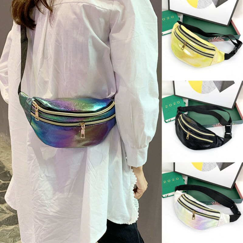 Waist Bags Chic Design Fanny Pack Fashion Belt Purse Banana Waist Packs Women's Belt Bag Rainbow Laser Chest Phone Pouch