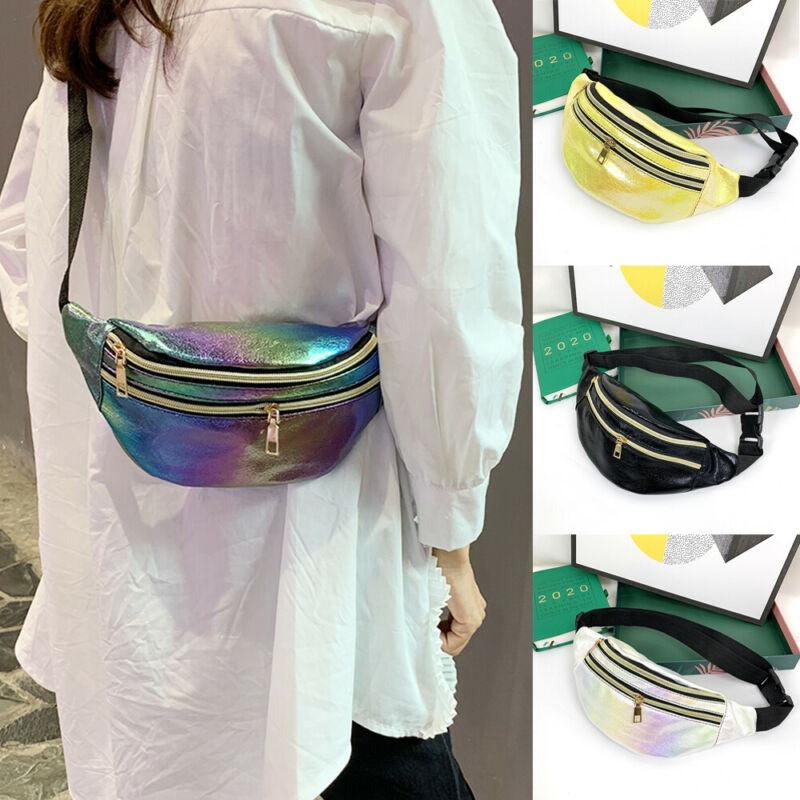 Waist Bags Chic Design Fanny Pack Fashion Belt Purse Banana Waist Packs Women's Belt Bag Rainbow Laser Chest Phone Pouch