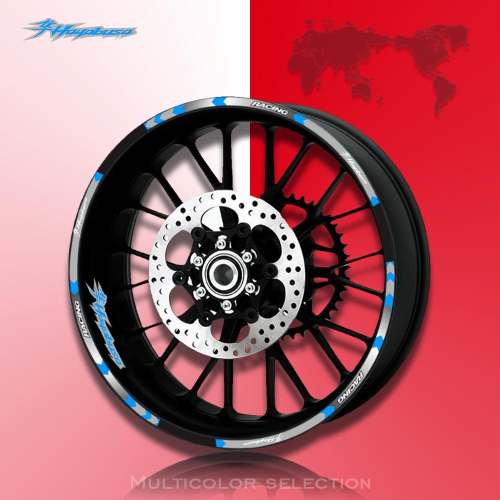 Motorcycles Reflective Sticker for Suzuki Hayabusa Motorcycles Wheel Stickers Reflective Rim Moto Stripe Tape