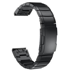Image 3 - Pulseira de aço inoxidável 20mm 22mm 26mm alça de ajuste rápido para garmin fenix 6x/5x/6 s/5S/6 pro/5 plus/3 hr pulseira de relógio
