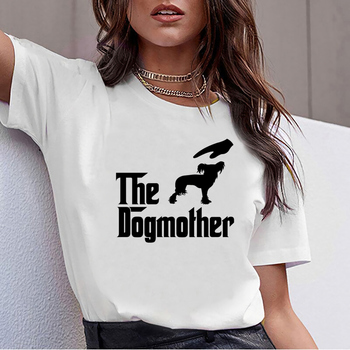 Tops T Shirt Women the dogmother chinese crested dog Comic Inscriptions Print Female Tshirt