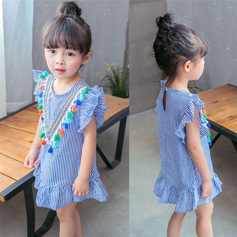H77da39967f5641efab7394f11a3145b3N Lemon Girl Baptism New 2018 Sleeveless Kid Dresses Girls Party Princess Vestidos Nina 6 7 Year Cowboy Dress