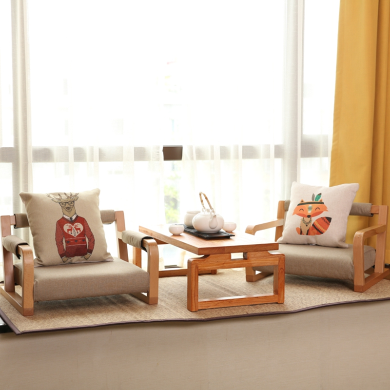 Living Room  Tea Coffee Table Japanese Asia Style Furniture Balcony Living Room Low Floor Rectangular Solid Wooden Simple Chair