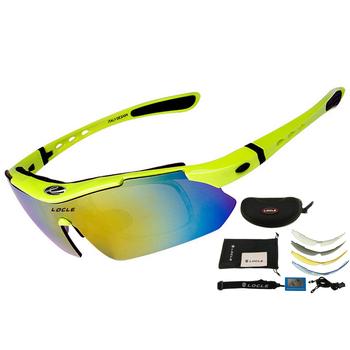 LOCLE profesjonalne okulary rowerowe UV400 spolaryzowane okulary rowerowe okulary rowerowe okulary rowerowe Gafas Cicismo gogle tanie i dobre opinie Unisex YJ-0868 MULTI Poliwęglan Octan Jazda na rowerze Cycling Eyewear Cycling Glasses Cicismo 1 polarized lens + 4 regular lenses