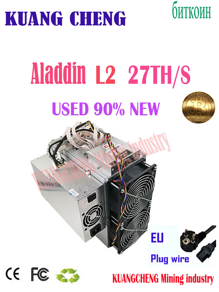 Used Old Aladdin L2 27t Miner Asik BTC BCH Miner Than Innosilicon T2T 30T Antminer S11 T17 S17 S9 Z11 S15  A1 25t  S5 22t M3