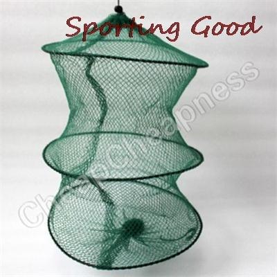 Foldable Crab Fish Crawdad Shrimp Minnow Fishing Bait Trap Dip Net Cage Special Zipper Nylon Fishing Net Cage
