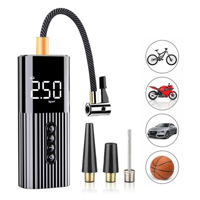 Neue Aufblasbare Pumpe Mini Tragbare Luft Kompressor mit LED Beleuchtung Reifen Inflator 12V 150PSI Draht Luftpumpe für Auto fahrrad bälle