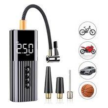 Minicompressor de ar portátil, bomba inflável de pneu com iluminação led 12v 150psi para carro bolas de bicicleta, bolas