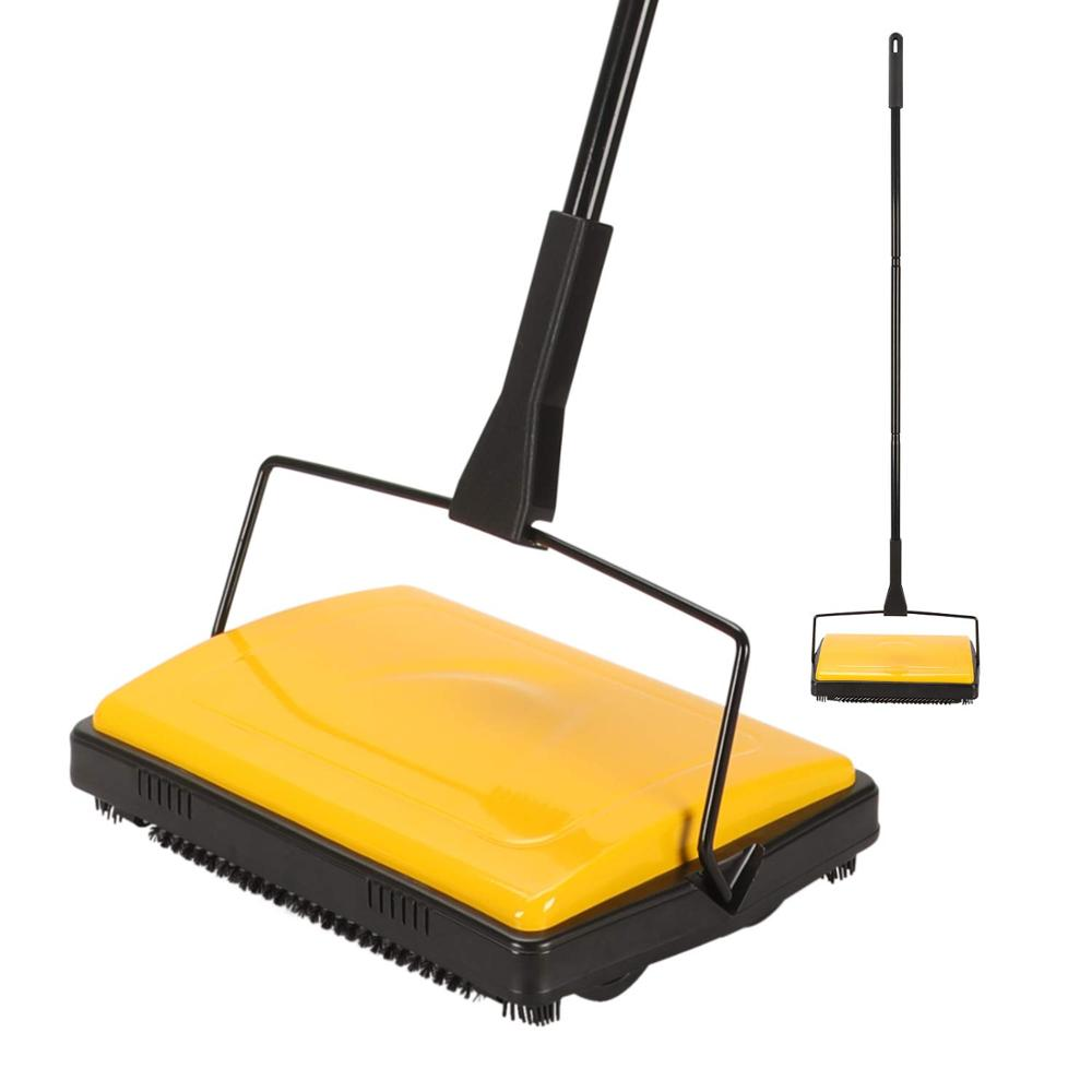 Cleanhome Carpet Floor Sweeper Cleaner for Home Office Carpets Rugs Undercoat Carpets Dust Scraps Paper Cleaning with Brush