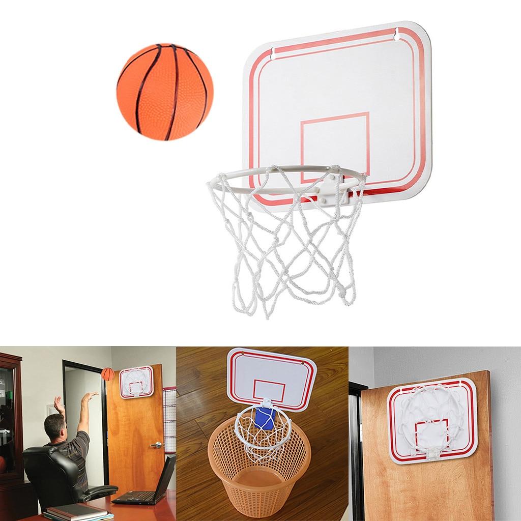 Indoor Folding Portable Suspension Free Punch Mini Plastic Basketball Frame Basketball Set Basketball Net Game Hoop Ring #T2G