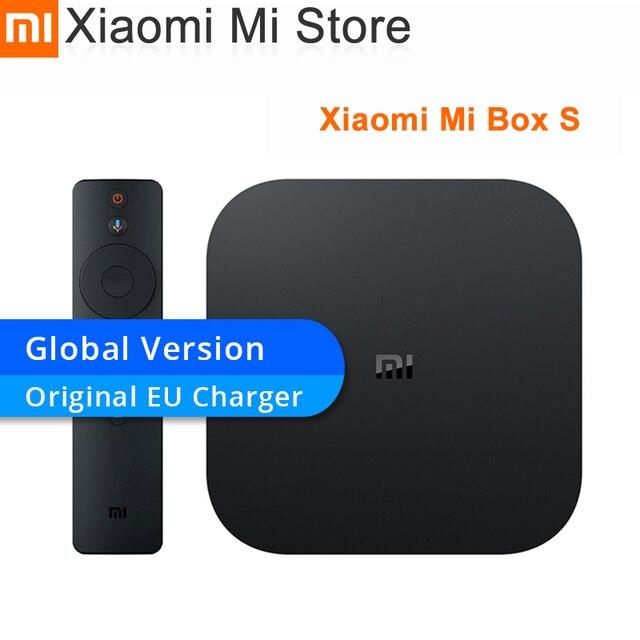 Original Global Version Xiaomi Mi Box S Android 8.1 4 K Quad Core Smart TV Box 2GB 8GB HDMI 2.4G 5.8G WiFi Mali 450 1000Mbp