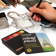 New 72Colors Colored Pencil Painting Color Lead Set Art Iron Boxed Set Writing Drawing Art Supplies