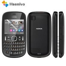 """Nokia Asha 201 разблокированный телефон 2,"""" 2.0MP две sim-карты Bluetooth GSM/WCDMA 2G телефон"""