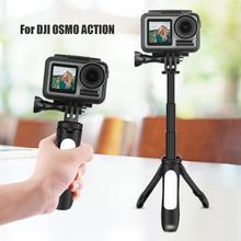 Mini Tripod Camera Tripod Portable Selfie Stick Monopod Extendable Sports Camera Desk Table Tripods for DJI OSMO ACTION Cameras z09 convenient mini portable plastic tripod for camera orange
