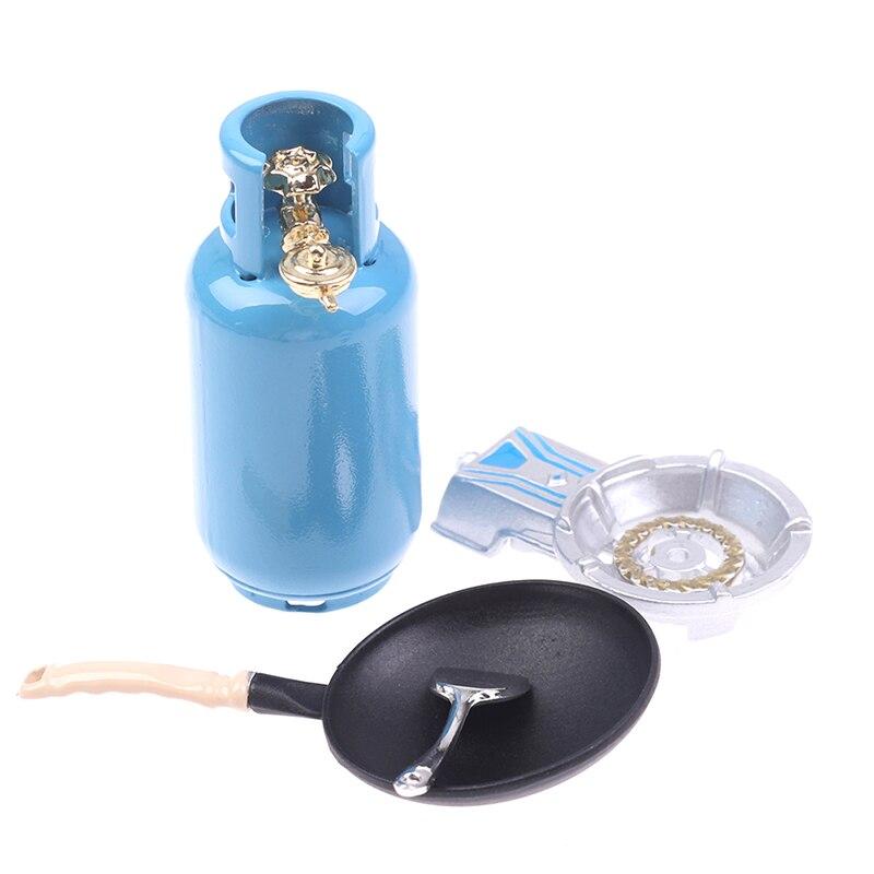 4 pçs/set 1/12 dollhouse miniatura liga de cozinha fogão a gás tanque utensílios ferramenta brinquedos brinquedo para crianças