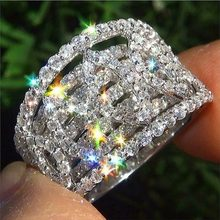 New Arrival Unique Female Ring Jewelry Inlaid Shining bright Wedding Party Fashion Vintage finger Rings for ladies gift