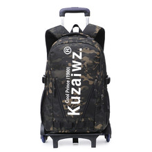 School Bags On wheels School Trolley backpacks wheeled backpack kids School Rolling backpacks for boys Men Travel bags(China)