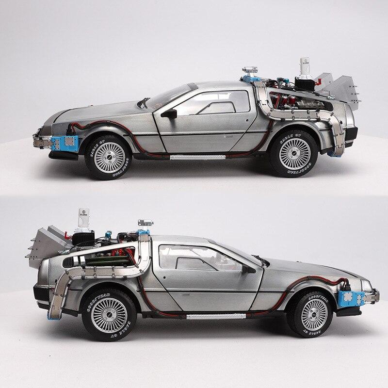 1/18 масштаб сплава автомобиль литья под давлением модель часть 3 машина время делореан автомобиль металлическая игрушка вельли обратно в будущее F дети подарки