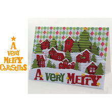 A Very Merry Christmas Letters Pattern Cutting Dies Stencil Scrapbooking Embossing For Paper Card DIY Crafts Tool New 2018 very merry paper christmas