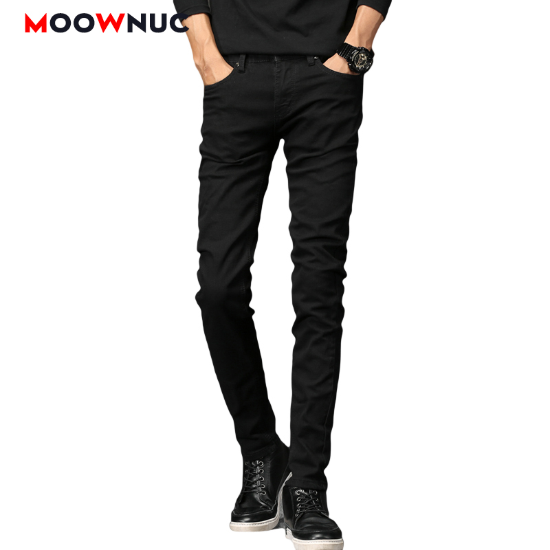 Jeans For Men Black Denim Trousers Hip Hop Jeans Casual Pants Autumn Sweatpants Streetwear Male Solid Slim Designer Straight New