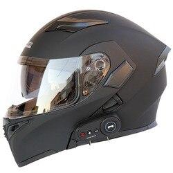 Motorhelm Motorfiets Bluetooth Helm Elektrische Auto Helm 1200 Mah Batterij