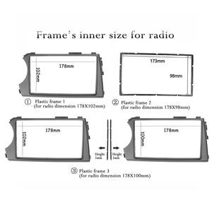 Image 3 - 2DIN רדיו Fascia עבור SSANG יונג Actyon LHD יד שמאל כונן Facia דאש CD לקצץ התקנה הר ערכת facia מסגרת פנל