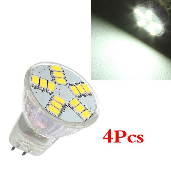 New 4x MR11 G4 4W 15 SMD 5630 LED Light Energy Saving Spotlight Bulb Lamp 12V Day White