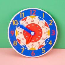 Relógio digital de madeira brinquedos para crianças iluminação tempo digital aprendizagem relógio geometria blocos número brinquedos de ensino educação presente