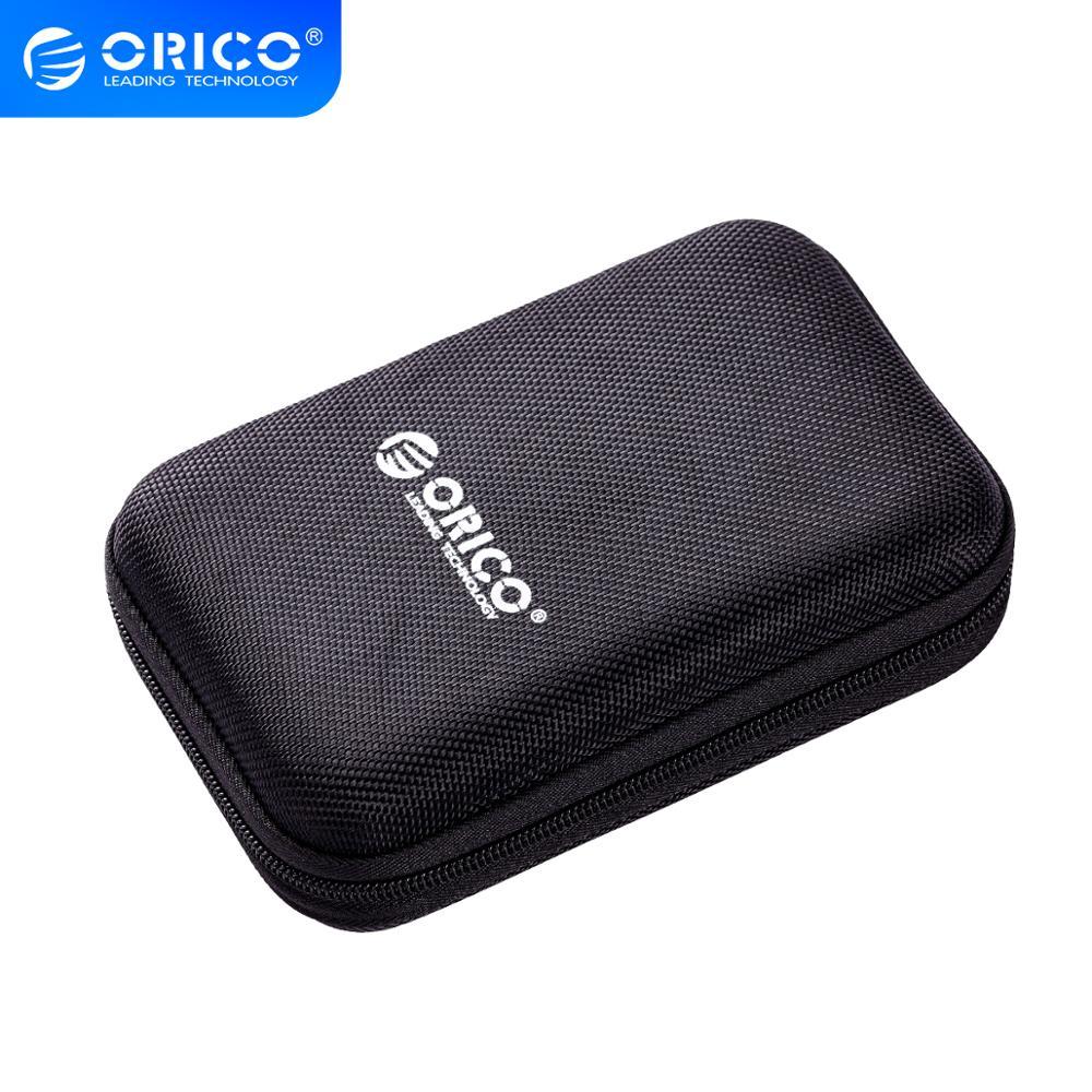 ORICO 2,5 pulgadas HDD SSD bolsa de protección bolsa de Nylon con cremallera Mini banco de potencia Caseelectronic organizador Estuche de transporte