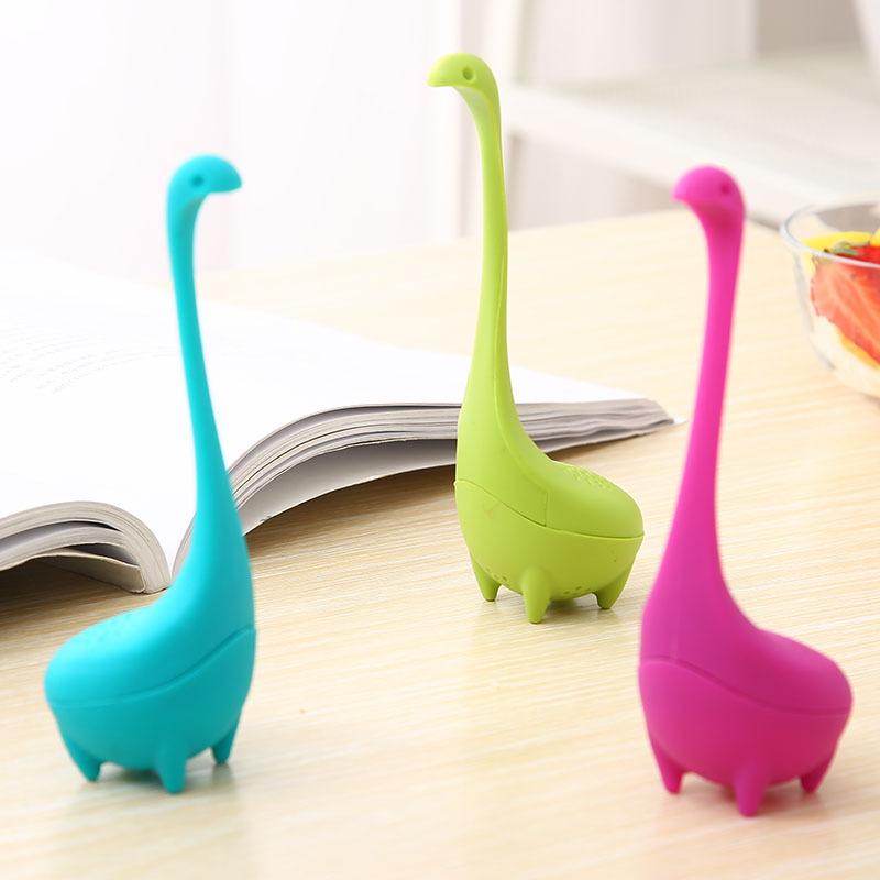 YIBO Water Monster Shape Tea Strainer Food Grade Silicone Creative Staying Dragon Tea Filter Household Tea Making Tools