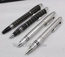 Wakak – stylo à bille à grille noire et argentée, série mon starwaker, stylo à bille à encre blanche, cadeau de papeterie