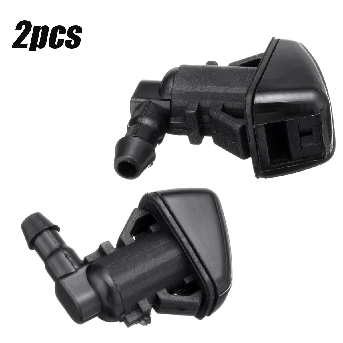 #7C3Z17603A Car Windshield Washer Spray Nozzle Jet Fan Shaped Water Spray For Ford F250 F350 F450 F550  2008 2009 2010 1/2PCS