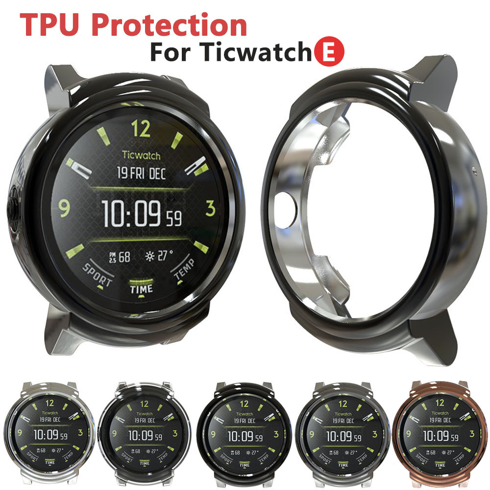 TPU Protection Silicone Case Cover For Ticwatch E Smart Watch Wearable Anti-scratch Accessories Ultra-thin Soft