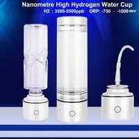 Nanómetro SPE & PEM, alta concentración de hidrógeno, botella de agua 3500-5500ppb, ORP-800 mínima, generador de agua H2 IHOOOH
