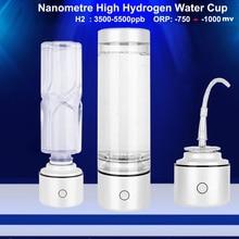 ナノspe & pem高濃度水素豊富な水ボトル3500 5500ppb orpミニ電解H2 lonizer発生器ihoooh