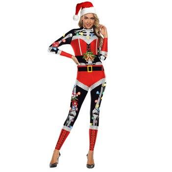 Christmas Jumpsuit Women's Skull Print Performance Clothing Christmas Night Party Jump Suit Xmas Outdoor Parade Costume ronald malfi night parade