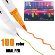 12/24/36/48/72/100 สีออกแบบกราฟิกอุปกรณ์ปากกาสีออกแบบกราฟิกโรงเรียนอุปกรณ์แปรงเครื่องหมาย