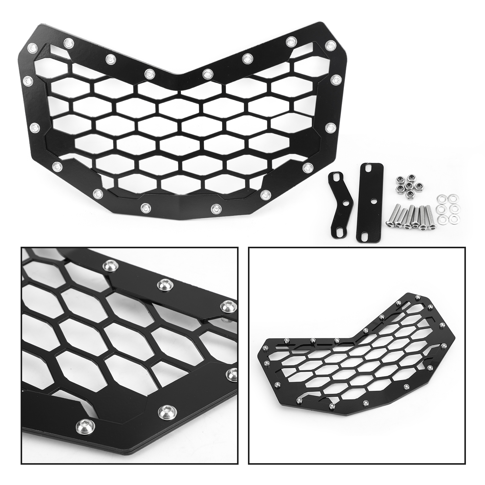 Artudatech For Can-Am Maverick 900 X3T 2016 2017 2018 2019 New Black Front Grille Light Grill Motorcycle ATV Accessories Parts image