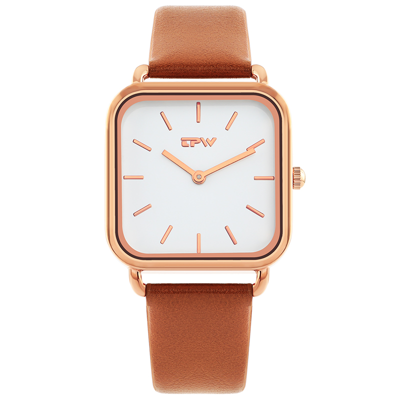 Square watch Causal Watches For Womens Leather Alloy Quartz Wrist Watch Clock Montre Femme square watch relogio feminino vintage in Women 39 s Watches from Watches