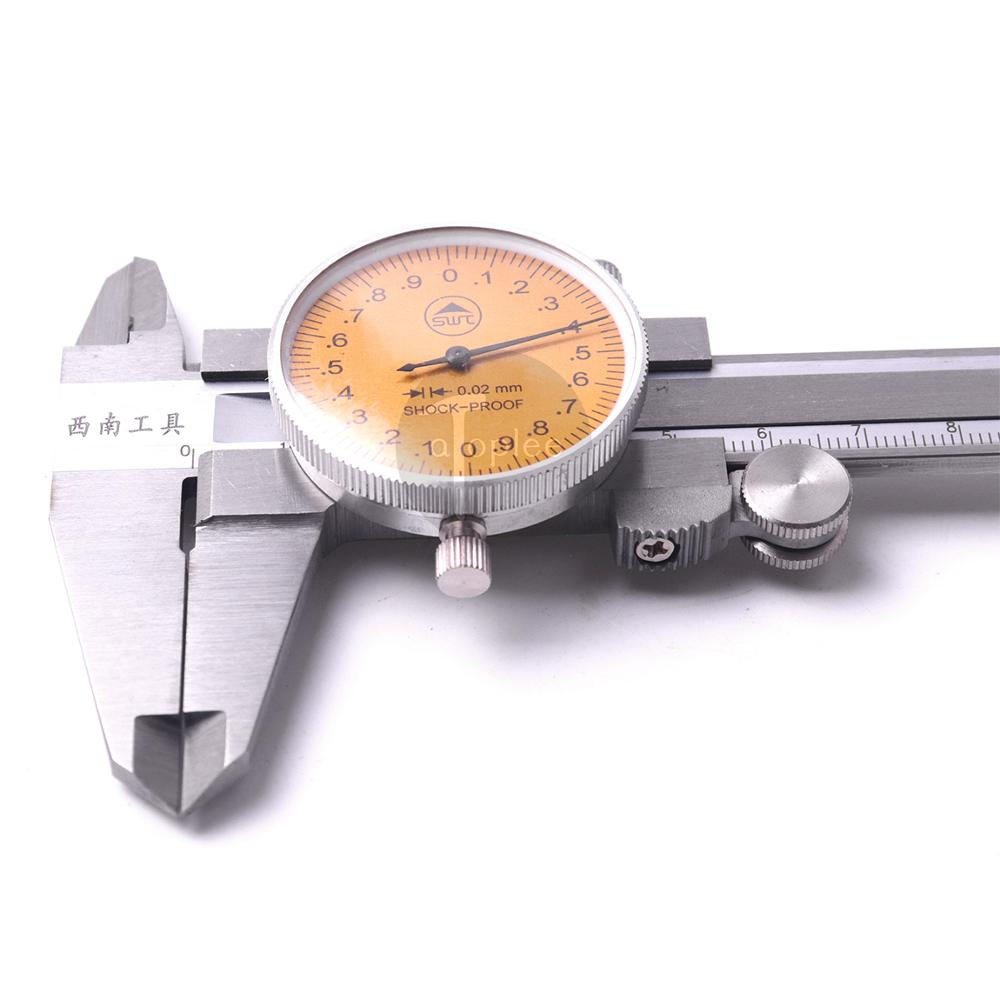 0-150mm Stainless Steel Metric Measurement Dial Caliper Vernier High-Precision